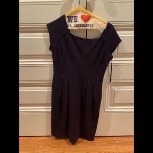 Diane Von Furstenberg Purple Stretchy Wool Dress